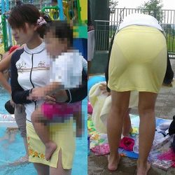 子供に気を取られた新妻がパンティとかブラジャーが見えちゃってる隠し撮り画像をどうぞ[24枚]