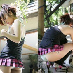 女の子が超ミニスカで卑猥なお尻と太ももを見せつけてくる画像って、ガチ勃起するよな?[43枚]