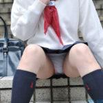 爽やかなショートカット黒髪の女子高コス美女が制服姿でエッチな事してくれるハメ撮りがめちゃシコ[24枚]